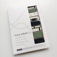 Load image into Gallery viewer, Buy Minimal Slate Green Nail Polish Wraps at the lowest price in Singapore from NAILWRAP.CO. Worldwide Shipping. Instant designer nail art manicure in under 10 minutes.