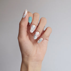 Buy Azure Floral Nail Polish Wraps at the lowest price in Singapore from NAILWRAP.CO. Worldwide Shipping. Instant designer nail art manicure in under 10 minutes.