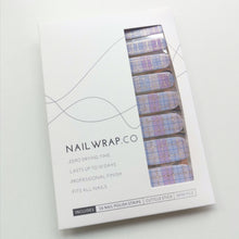 Load image into Gallery viewer, Buy Lilac Plaid Nail Polish Wraps at the lowest price in Singapore from NAILWRAP.CO. Worldwide Shipping. Instant designer nail art manicure in under 10 minutes.