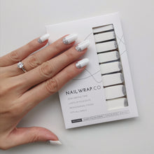 Load image into Gallery viewer, Buy Snow Storm Nail Polish Wraps at the lowest price in Singapore from NAILWRAP.CO. Worldwide Shipping. Instant designer nail art manicure in under 10 minutes.