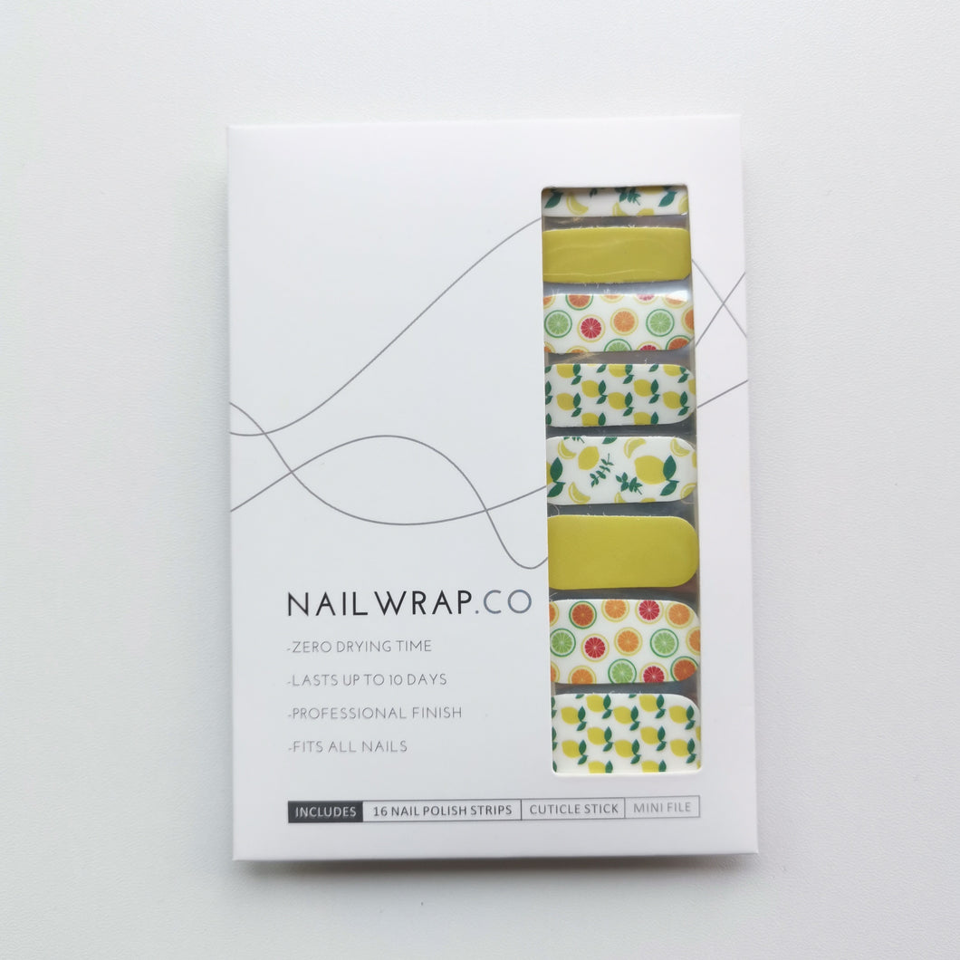 Buy Vitamin C 🍋 Nail Polish Wraps at the lowest price in Singapore from NAILWRAP.CO. Worldwide Shipping. Instant designer nail art manicure in under 10 minutes.
