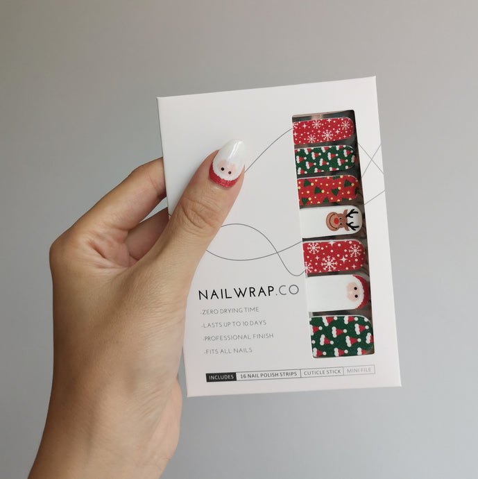 Buy Santa Soiree Nail Polish Wraps at the lowest price in Singapore from NAILWRAP.CO. Worldwide Shipping. Instant designer nail art manicure in under 10 minutes.