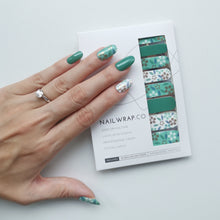 Load image into Gallery viewer, Buy Carolina Green Nail Polish Wraps at the lowest price in Singapore from NAILWRAP.CO. Worldwide Shipping. Instant designer nail art manicure in under 10 minutes.