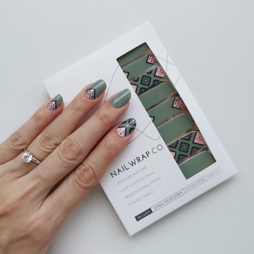 Buy Sacai Aztec Nail Polish Wraps at the lowest price in Singapore from NAILWRAP.CO. Worldwide Shipping. Instant designer nail art manicure in under 10 minutes.