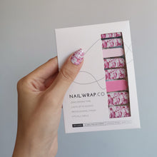 Load image into Gallery viewer, Buy Camo Pink Nail Polish Wraps at the lowest price in Singapore from NAILWRAP.CO. Worldwide Shipping. Instant designer nail art manicure in under 10 minutes.