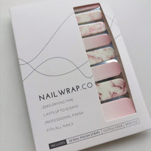 Load image into Gallery viewer, Buy Rose Gold Marble Nail Polish Wraps at the lowest price in Singapore from NAILWRAP.CO. Worldwide Shipping. Instant designer nail art manicure in under 10 minutes.