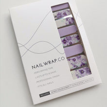 Load image into Gallery viewer, Buy Windsor Purple Floral Nail Polish Wraps at the lowest price in Singapore from NAILWRAP.CO. Worldwide Shipping. Instant designer nail art manicure in under 10 minutes.