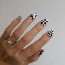 Load image into Gallery viewer, Buy Mono Patterns Nail Polish Wraps at the lowest price in Singapore from NAILWRAP.CO. Worldwide Shipping. Instant designer nail art manicure in under 10 minutes.