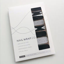 Load image into Gallery viewer, Buy Crystal Black - Nail Wrap of the Week Nail Polish Wraps at the lowest price in Singapore from NAILWRAP.CO. Worldwide Shipping. Instant designer nail art manicure in under 10 minutes.