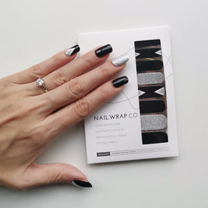 Buy Crystal Black - Nail Wrap of the Week Nail Polish Wraps at the lowest price in Singapore from NAILWRAP.CO. Worldwide Shipping. Instant designer nail art manicure in under 10 minutes.