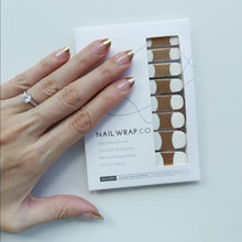 Load image into Gallery viewer, Buy Della Gold French Nail Polish Wraps at the lowest price in Singapore from NAILWRAP.CO. Worldwide Shipping. Instant designer nail art manicure in under 10 minutes.
