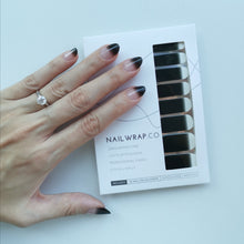 Load image into Gallery viewer, Buy Black Gradient Nail Polish Wraps at the lowest price in Singapore from NAILWRAP.CO. Worldwide Shipping. Instant designer nail art manicure in under 10 minutes.