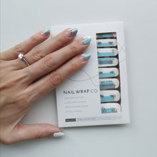 Load image into Gallery viewer, Buy Robin Blue Nail Polish Wraps at the lowest price in Singapore from NAILWRAP.CO. Worldwide Shipping. Instant designer nail art manicure in under 10 minutes.