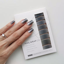 Load image into Gallery viewer, Buy Grey Hue Nail Polish Wraps at the lowest price in Singapore from NAILWRAP.CO. Worldwide Shipping. Instant designer nail art manicure in under 10 minutes.