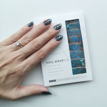 Load image into Gallery viewer, Buy Perfect Storm Nail Polish Wraps at the lowest price in Singapore from NAILWRAP.CO. Worldwide Shipping. Instant designer nail art manicure in under 10 minutes.