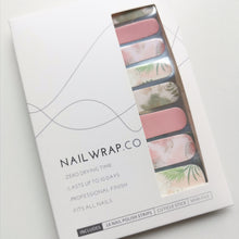 Load image into Gallery viewer, Buy Aubrey Abstract Floral Nail Polish Wraps at the lowest price in Singapore from NAILWRAP.CO. Worldwide Shipping. Instant designer nail art manicure in under 10 minutes.