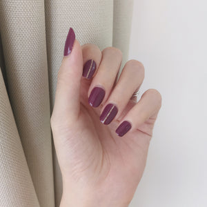 Buy Royal Plum Nail Polish Wraps at the lowest price in Singapore from NAILWRAP.CO. Worldwide Shipping. Instant designer nail art manicure in under 10 minutes.