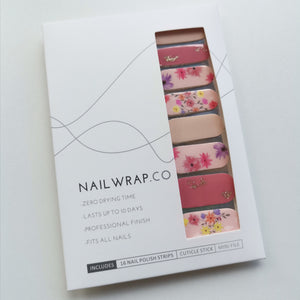 Buy Floral Blush Nail Polish Wraps at the lowest price in Singapore from NAILWRAP.CO. Worldwide Shipping. Instant designer nail art manicure in under 10 minutes.