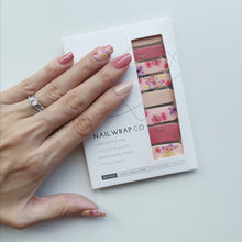 Load image into Gallery viewer, Buy Floral Blush Nail Polish Wraps at the lowest price in Singapore from NAILWRAP.CO. Worldwide Shipping. Instant designer nail art manicure in under 10 minutes.