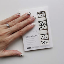 Load image into Gallery viewer, Buy Moo Moo Cow 🐄 Nail Polish Wraps at the lowest price in Singapore from NAILWRAP.CO. Worldwide Shipping. Instant designer nail art manicure in under 10 minutes.