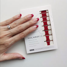 Load image into Gallery viewer, Buy Audre Red French Nail Polish Wraps at the lowest price in Singapore from NAILWRAP.CO. Worldwide Shipping. Instant designer nail art manicure in under 10 minutes.
