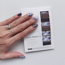 Load image into Gallery viewer, Buy Purple Reign Nail Polish Wraps at the lowest price in Singapore from NAILWRAP.CO. Worldwide Shipping. Instant designer nail art manicure in under 10 minutes.