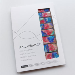 Buy Marbleous Aurora Nail Polish Wraps at the lowest price in Singapore from NAILWRAP.CO. Worldwide Shipping. Instant designer nail art manicure in under 10 minutes.