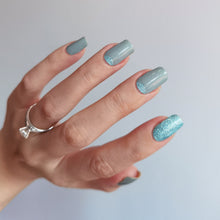 Load image into Gallery viewer, Buy Empower Mint Nail Polish Wraps at the lowest price in Singapore from NAILWRAP.CO. Worldwide Shipping. Instant designer nail art manicure in under 10 minutes.
