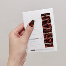 Load image into Gallery viewer, Buy Gold Foil Tortoise Shell Nail Polish Wraps at the lowest price in Singapore from NAILWRAP.CO. Worldwide Shipping. Instant designer nail art manicure in under 10 minutes.