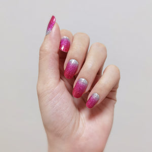 Buy Pink Ombré (Glitter) Nail Polish Wraps at the lowest price in Singapore from NAILWRAP.CO. Worldwide Shipping. Instant designer nail art manicure in under 10 minutes.