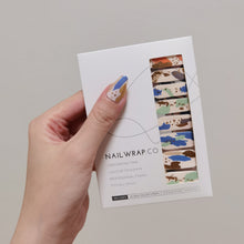 Load image into Gallery viewer, Buy Autumn Abstract Nail Polish Wraps at the lowest price in Singapore from NAILWRAP.CO. Worldwide Shipping. Instant designer nail art manicure in under 10 minutes.