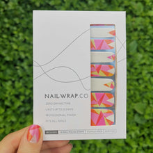 Load image into Gallery viewer, Buy Iris Geometry Nail Wraps at the lowest price in Singapore from NAILWRAP.CO. We Ship Worldwide. Over 300 designs! Instant designer nail art under 10 minutes