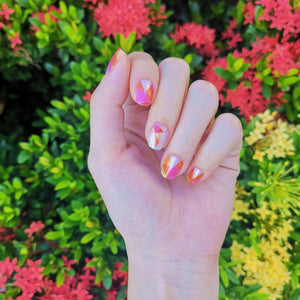 Buy Iris Geometry Nail Wraps at the lowest price in Singapore from NAILWRAP.CO. We Ship Worldwide. Over 300 designs! Instant designer nail art under 10 minutes