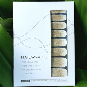 Buy Frost Gold Glitter Nail Polish Wraps at the lowest price in Singapore from NAILWRAP.CO. Worldwide Shipping. Instant designer nail art manicure in under 10 minutes.