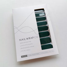 Load image into Gallery viewer, Buy Darkest Forest (Solid) Nail Polish Wraps at the lowest price in Singapore from NAILWRAP.CO. Worldwide Shipping. Instant designer nail art manicure in under 10 minutes.