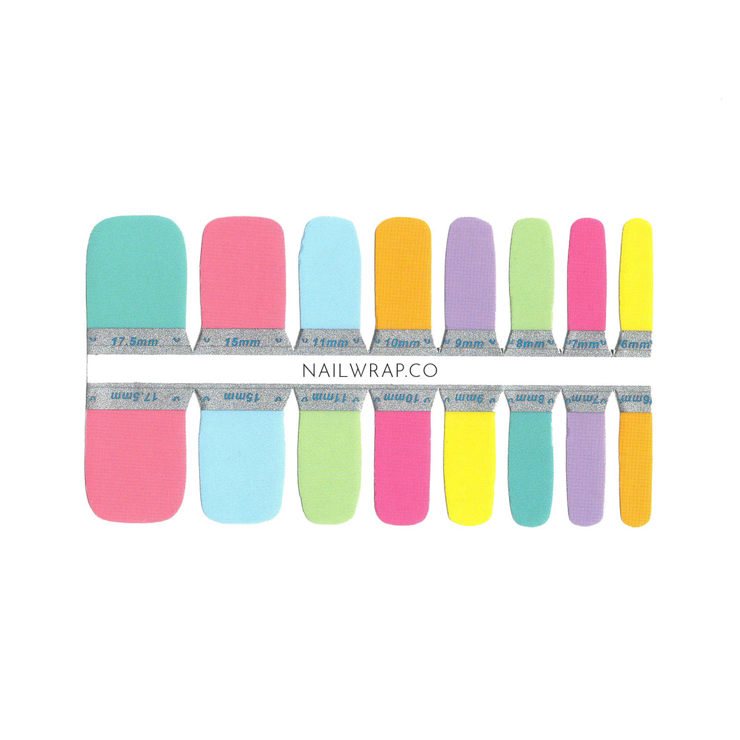 Buy Rainbow (Pedicure) Nail Polish Wraps at the lowest price in Singapore from NAILWRAP.CO. Worldwide Shipping. Instant designer nail art manicure in under 10 minutes.