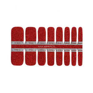 Buy Classic Scarlet Glitter (Pedicure) Nail Polish Wraps at the lowest price in Singapore from NAILWRAP.CO. Worldwide Shipping. Instant designer nail art manicure in under 10 minutes.