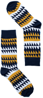 Black & Yellow Triangle Sock