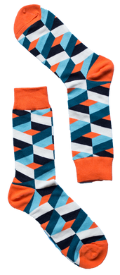 Orange Dimension Sock