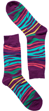 Zebra Stripe Sock
