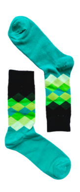 Green Gradient Sock