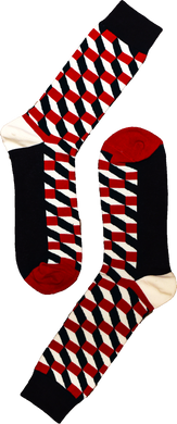 Red Dimension Sock