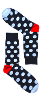 White Dotted Sock