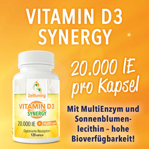Vitamin D3 Synergy - 20.000IE