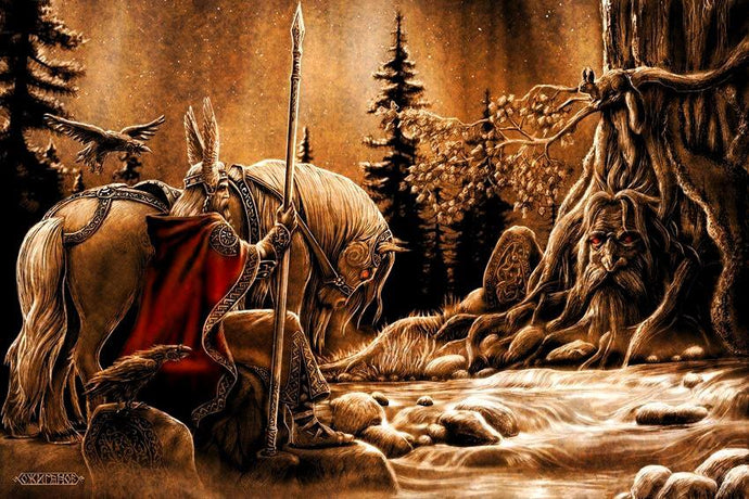 How Odin sacrificed his eye at Mimir's Well