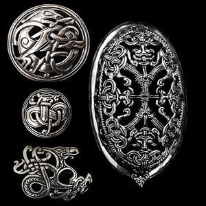 Silver Viking Brooches