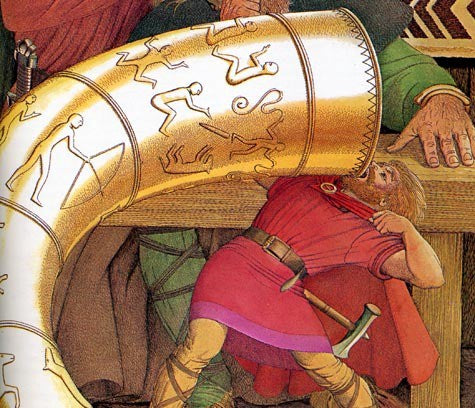 Thor Drinking from a Bottomless Drinking Horn - Viking Dragon Blogs