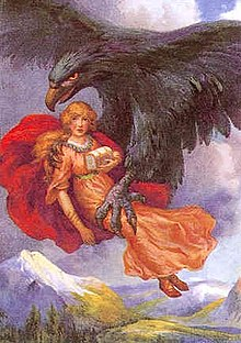 Giant Eagle Carrying Idun - Viking Dragon Blogs