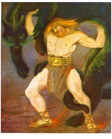 Thor Lifting the Cat - Viking Dragon Blogs