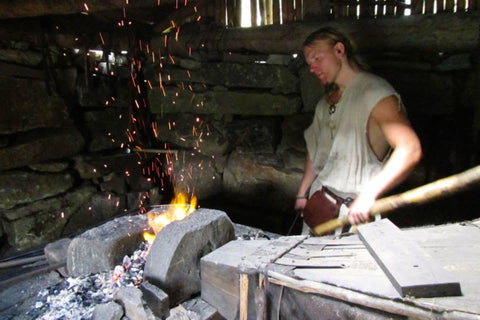 Blacksmith at Lofotr Viking Festival